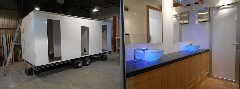 luxury toilet trailers manufacture