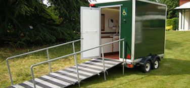 Luxury toilet hire trailer for disabled access