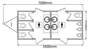 Hire luxury toilets
