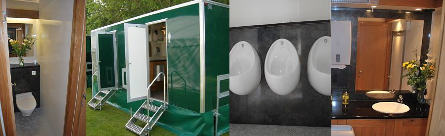 Luxury portable toilets for hire