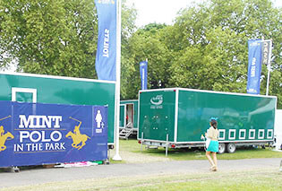 Event toilets for hire