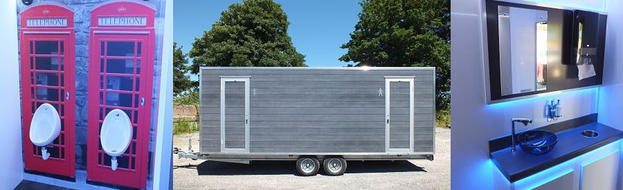 Themed toilet trailers for hire