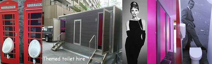 themed toilet hire weddings